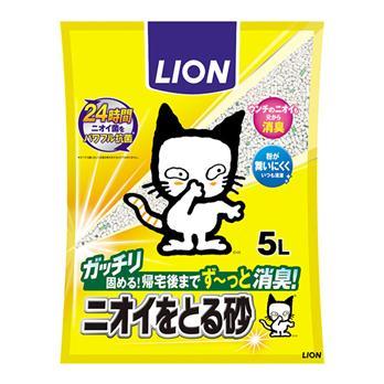 【ライオン商事】<br>ニオイをとる砂<br>5L