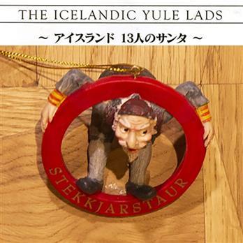 アイスランドの13人のサンタ<br>オーナメント<br>12/12 羊の乳なめサンタ