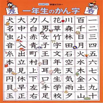 学習ポスター 一年生の漢字 ...